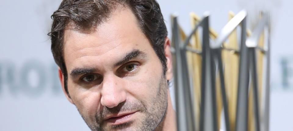 Federer en la rueda de prensa tras la final del Masters 1000 de Shanghái
