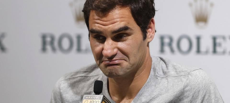 Roger Federer en la rueda de prensa del Masters 1000 de Shangái