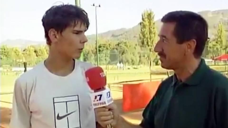 Nadal entrevistado con tan sólo 16 años