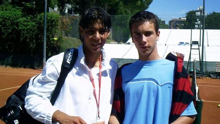 Rafa Nadal con 16 años junto a Armand Ruiz en el Trofeo Conde de Godó (C) @armand_ruiz via Twitter