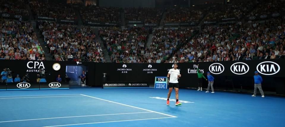 Rafa Nadal en la final del Abierto de Australia 2017 contra Roger Federer