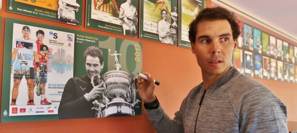 Rafa Nadal tras proclamarse campeón del Conde Godó 2017