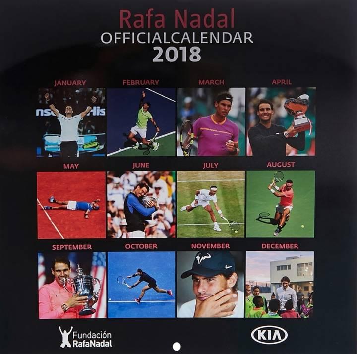 Vista ampliada por meses del Calendario Oficial Rafa Nadal 2018 (C) Fundación Rafa Nadal
