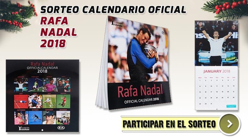 Diferentes vistas del Calendario Oficial de pared Rafa Nadal 2018
