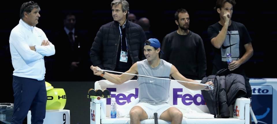 Toni y Rafa Nadal durante las pasadas ATP Nitto Finals 2017
