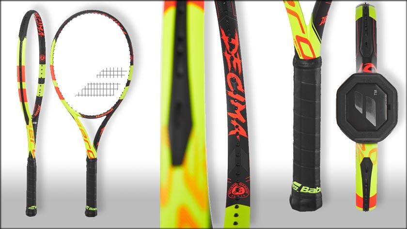 La nueva raqueta de Nadal está repleta de detalles alegóricos a La Décima conseguida por Rafa en Roland Garros (C) Babolat