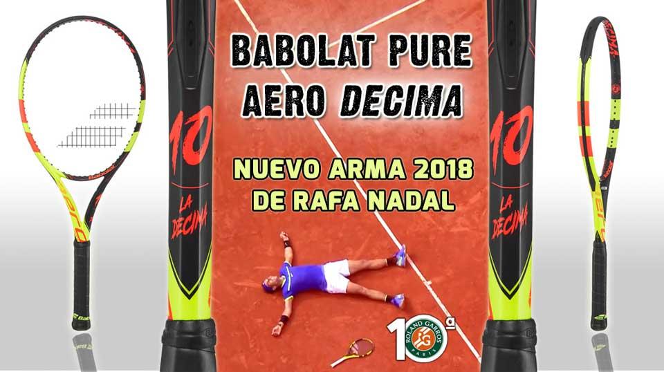 La raqueta de Nadal en 2018 es un homenaje de Babolat por sus 10 títulos en Roland Garros