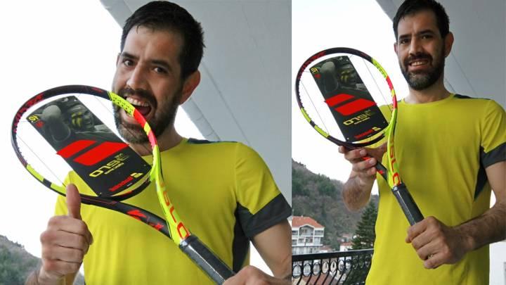 Javier Rodríguez de Florina (Grecia), ganador del sorteo de la raqueta Babolat de Nadal 2018 (C) RNPAP