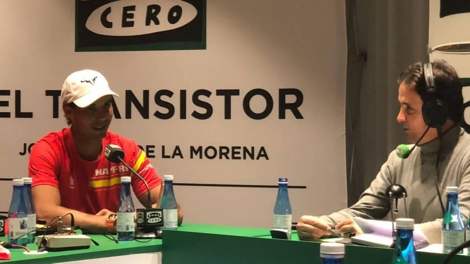 Nadal hablando del resultado del partido de hoy del Madrid con JR de la Morena - Abril 2018