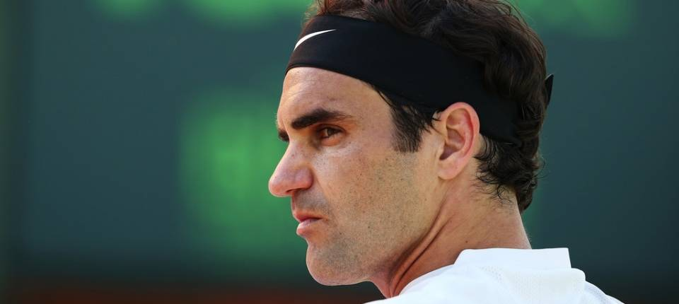 Roger Federer durante el pasado Abierto de Australia 2018