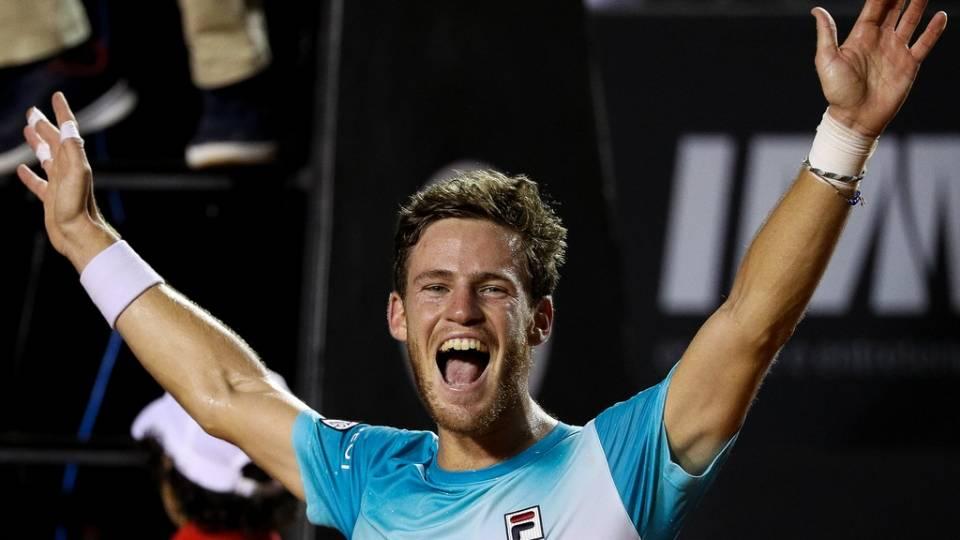La felicidad de Schwartzman tras ganar el torneo ATP Rio Open 2018