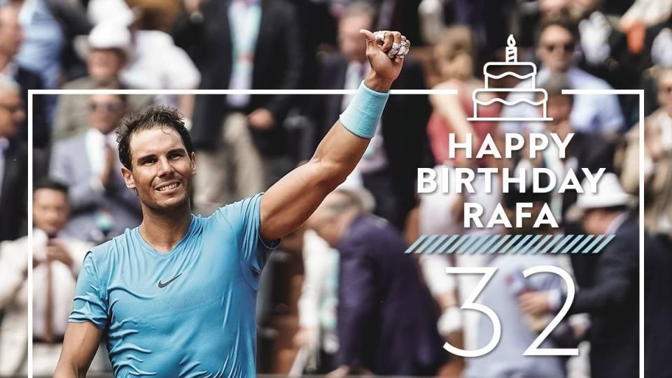 Felicitación de Roland Garros a Rafa Nadal por su 32 cumpleaños