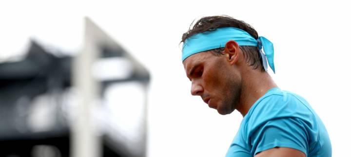 Así de concentrado se mostró Nadal contra Guido Pella en la segunda ronda de Roland Garros (C) Getty Images