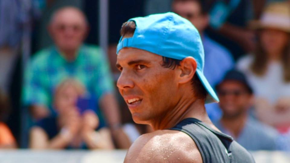 Rafa Nadal durante un entrenamiento en Roland Garros este sábado - 9.6.2018