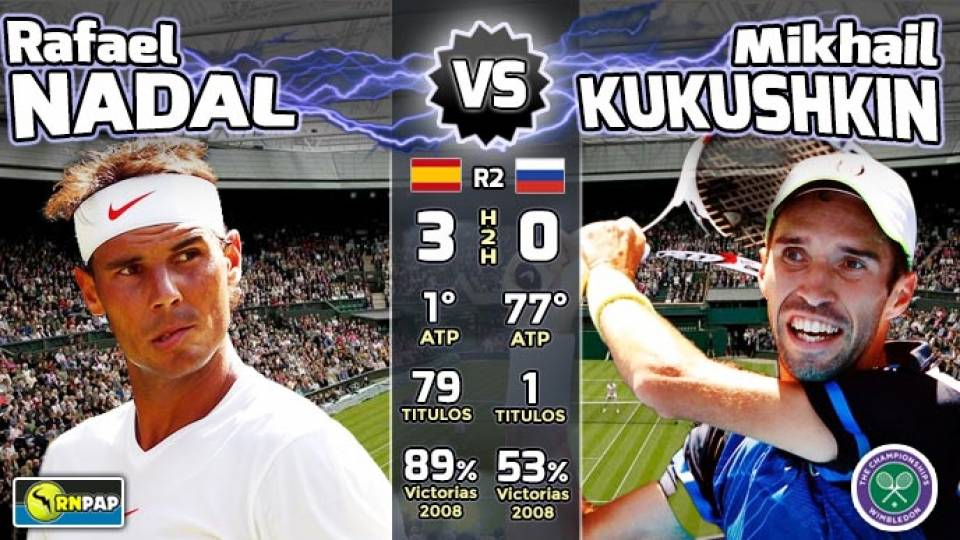 Previa Rafael Nadal vs Mikhaik Kukushkin, segunda ronda de Wimbledon 2018