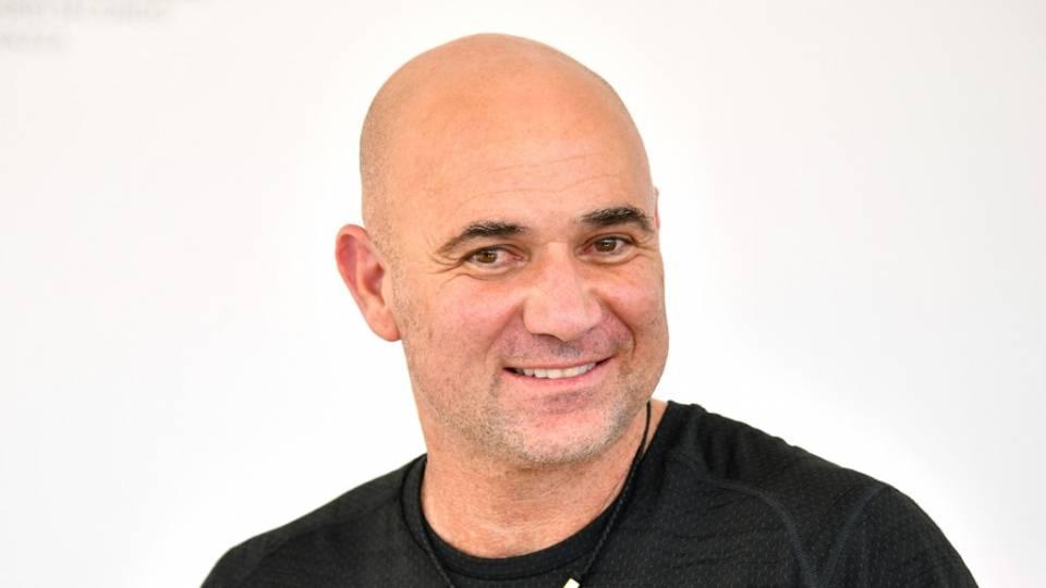 André Agassi en un evento para Lavazza en el Abierto de Australia 2018
