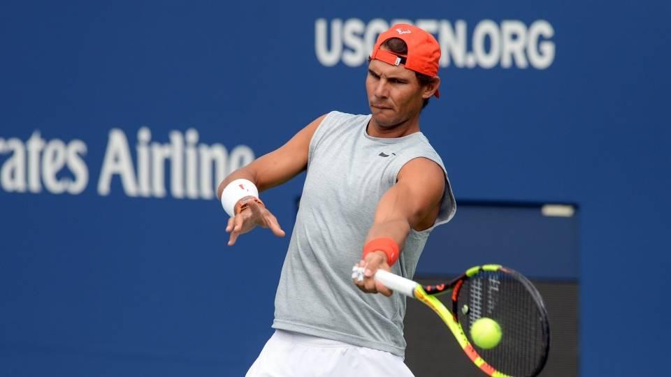 Rafa Nadal entrenando en el US Open 2018 - martes 21 agosto