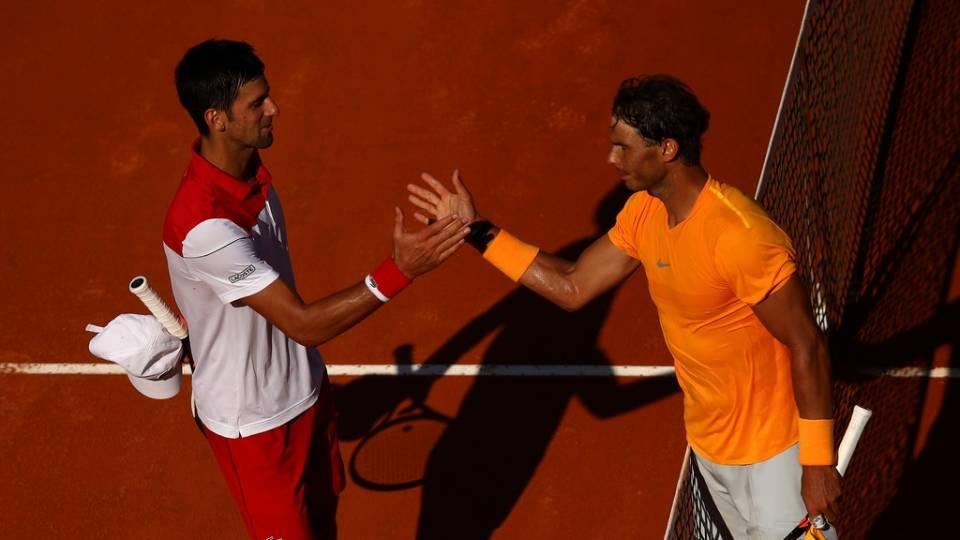Djokovic felicita a Nadal por su victoria en el Masters 1.000 de Roma 2018