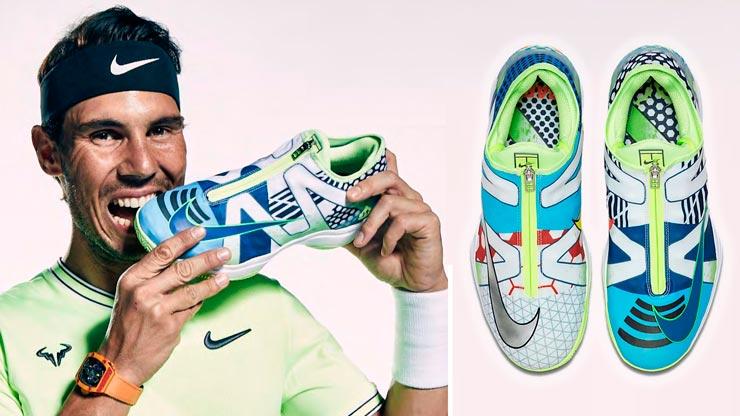 Vista superior de las Nike Air Zoom Cage 3 Glove What The Rafa (C) Nike