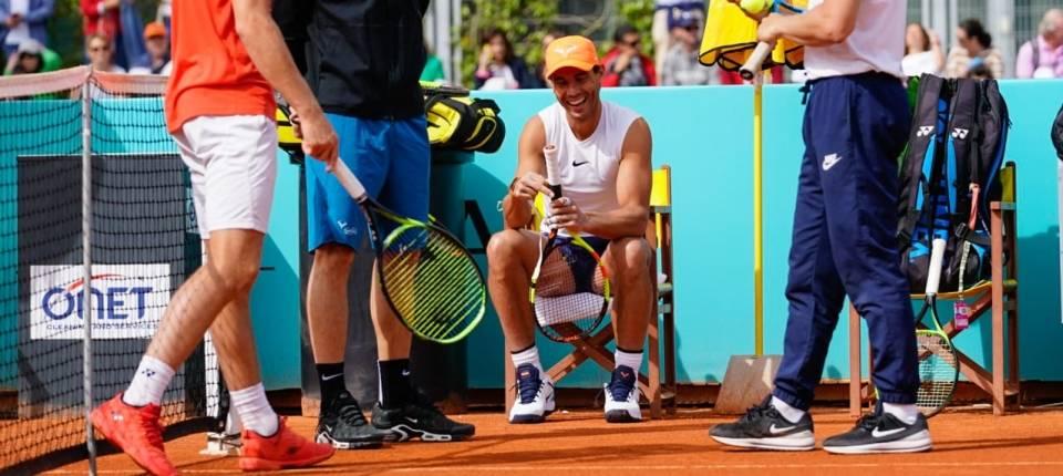 Rafa Nadal este martes en el Mutua Madrid Open