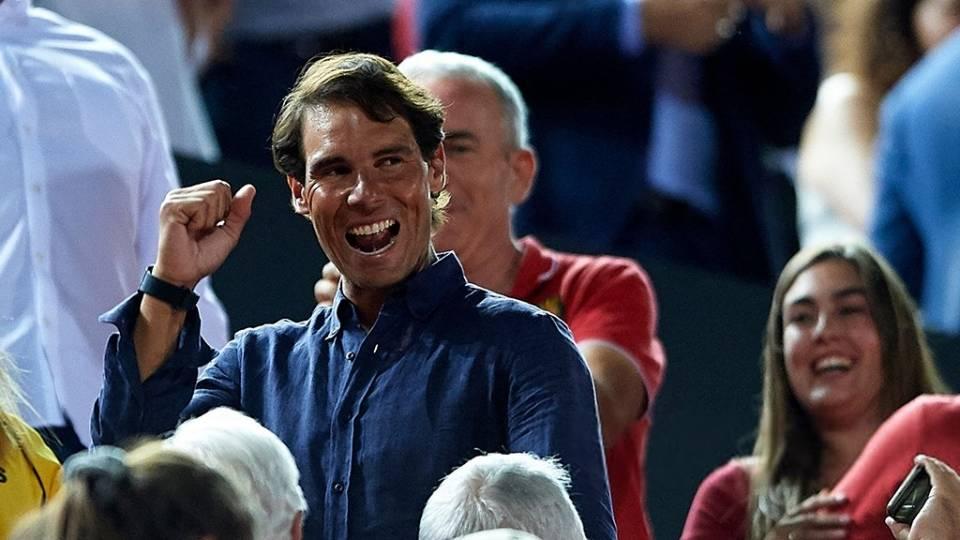Rafa Nadal festejaba la subida del Mallorca a Primera - 23 junio 2019