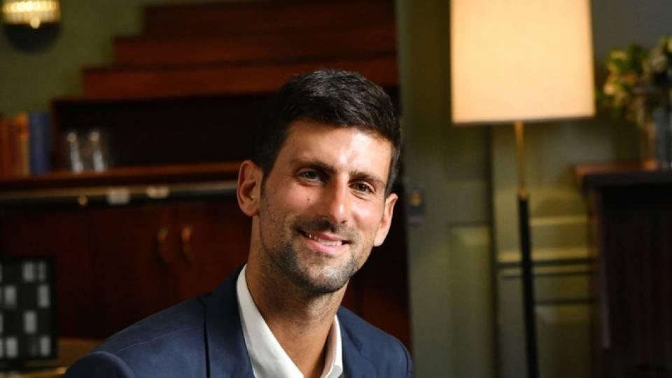 Novak Djokovic en un acto para su Fundación durante el US Open 2019
