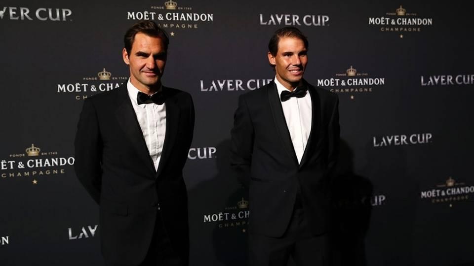Roger Federer y Rafa Nadal en presentación de la Laver Cup 2019