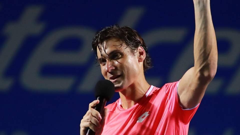 Homenaje a David Ferrer por su retirada, en el ATP de Acapulco 2019