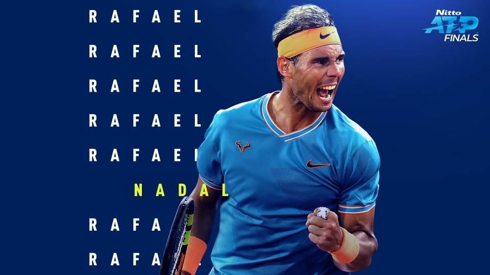 Recreación de Rafael Nadal alzando el puño en las Nitto ATP Finals