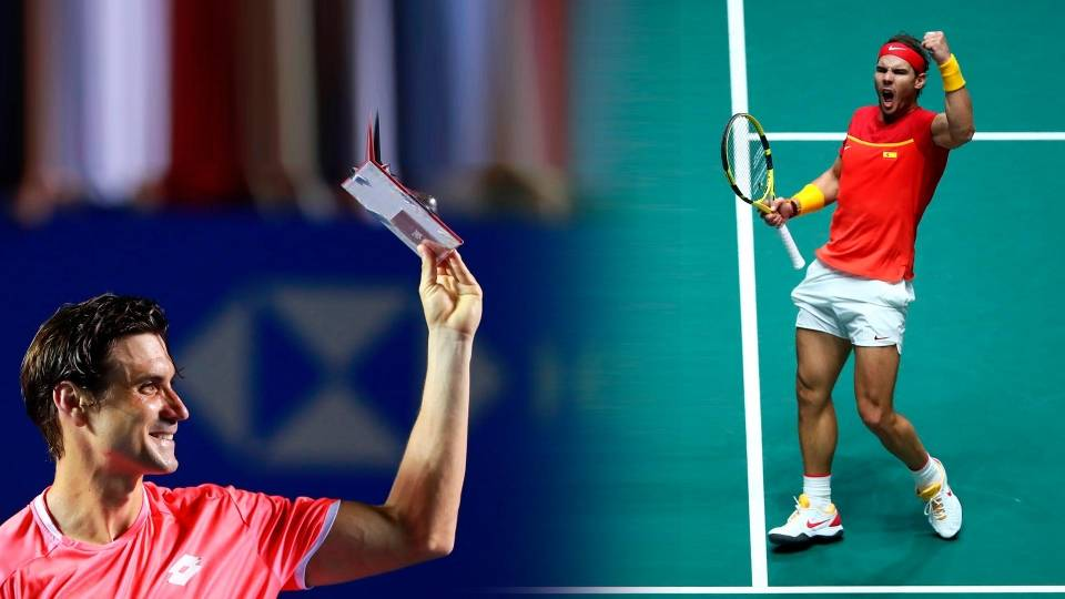 Ferrer en un homenaje a su despedida en 2019 y Nadal en Copa Davis 2019