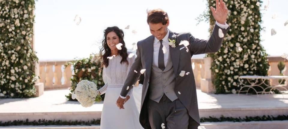 Fotografía inédita de la boda de Rafa Nadal y Mery Perelló publicada el 31 de diciembre de 2019