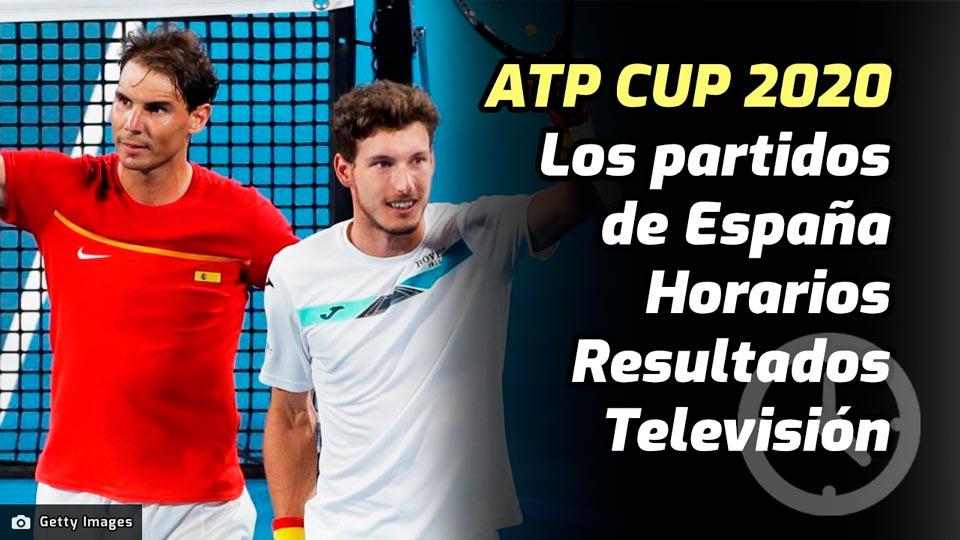 Los horarios y dónde ver los partidos de la Selección Española en la ATP Cup 2020