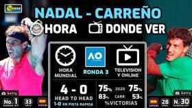 Nadal - Carreño: Hora y dónde ver por TV del Open de Australia