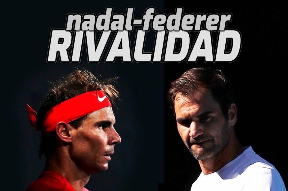 Rafa Nadal durante su partido contra Alex de Minaur en la ATP Cup 2020