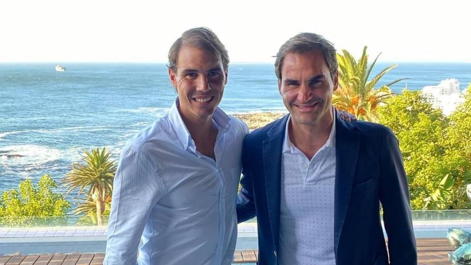 Rafael Nadal y Roger Federer desde Ciudad del Cabo el día antes del The Match In Africa 2020