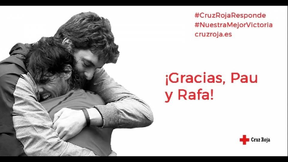 Rafa Nadal junto a Pau Gasol lanzan una campaña para la lucha contra el coronavirus