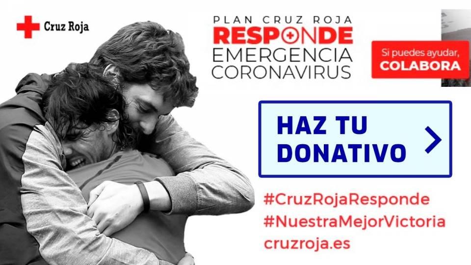 Plan Cruz Roja Responde con Rafa Nadal y Pau Gasol, en la lucha contra el coronavirus