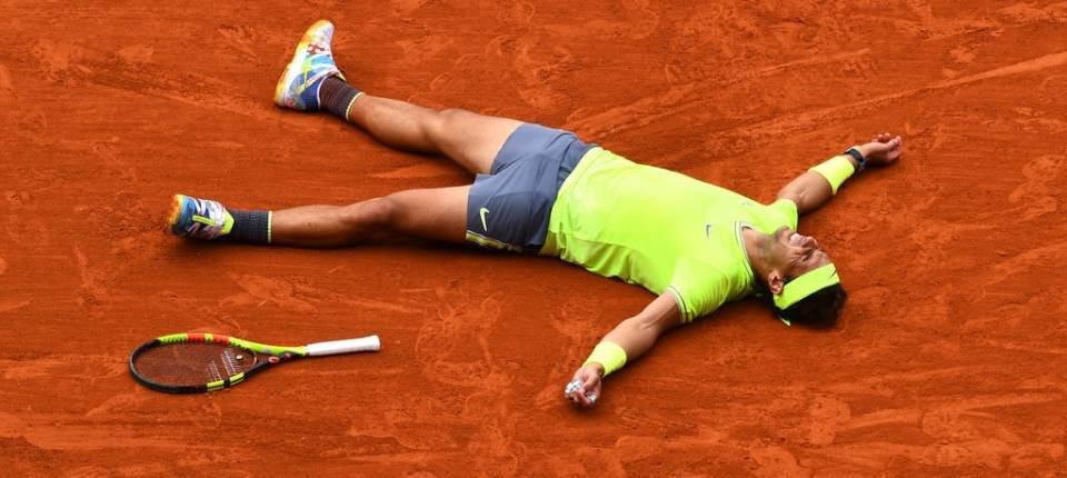 Rafa Nadal celebra el Punto de Torneo conseguido en Roland Garros 2019