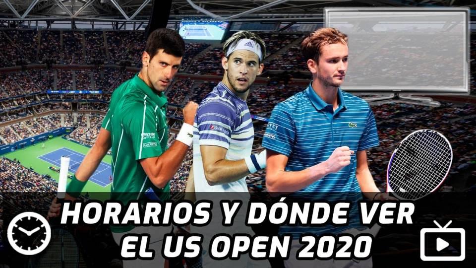 Horarios y TV donde ver el US Open 2020, con Djokovic, Thiem, Medvedev y otros