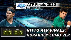 ATP Finals 2020: horarios, TV y dónde ver el Masters de Londres