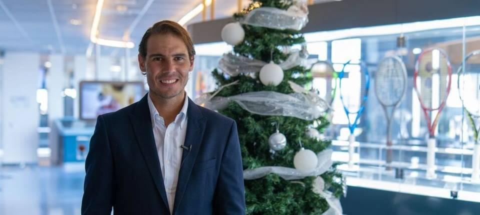 Rafa Nadal durante su mensaje de Navidad 2020