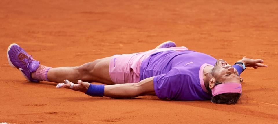 Rafa Nadal celebra el punto de torneo en el Barcelona Open (Conde Godó) 2021