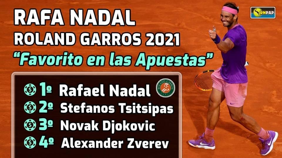 Rafa Nadal se postula como el máximo favorito según las apuestas para ganar Roland Garros 2021