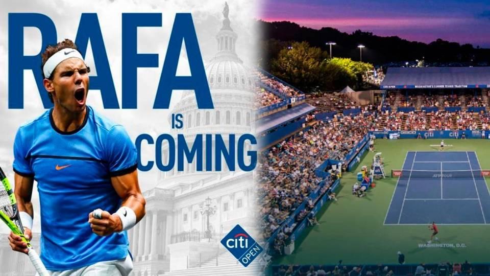 Rafa Nadal regresa en el Citi Open 2021