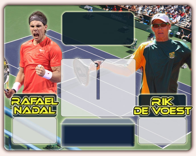 Nadal vs De Voest en Indian Wells 2011