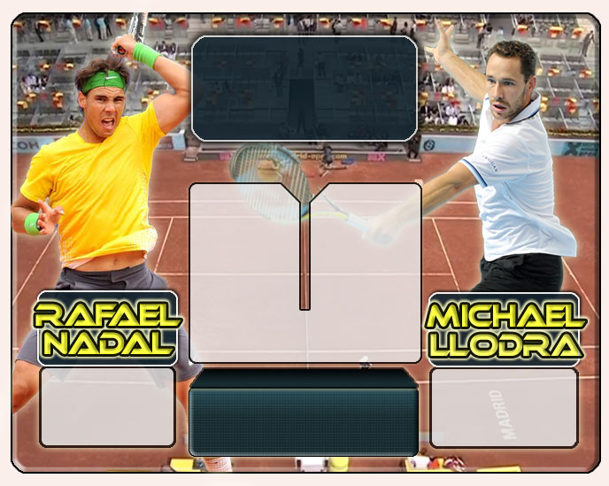 Nadal vs Llodra en Madrid 2011