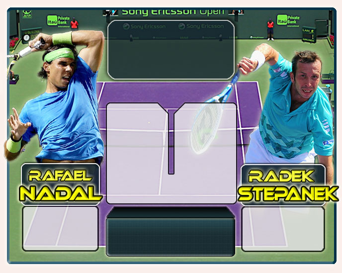 Nadal vs Stepanek en Miami 2012