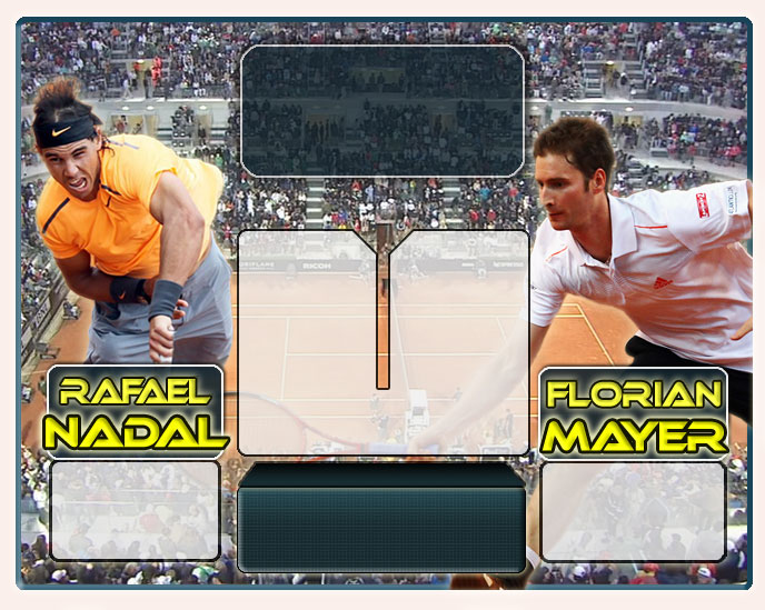 Nadal vs Mayer en Roma 2012