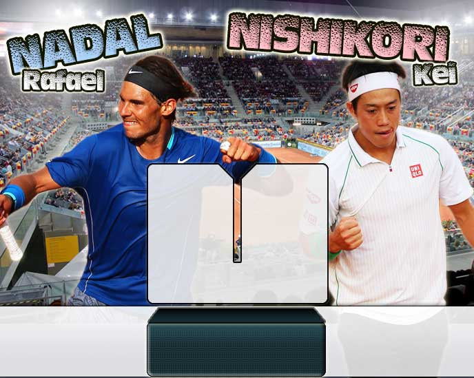 Nadal vs Nishikori en Madrid 2014