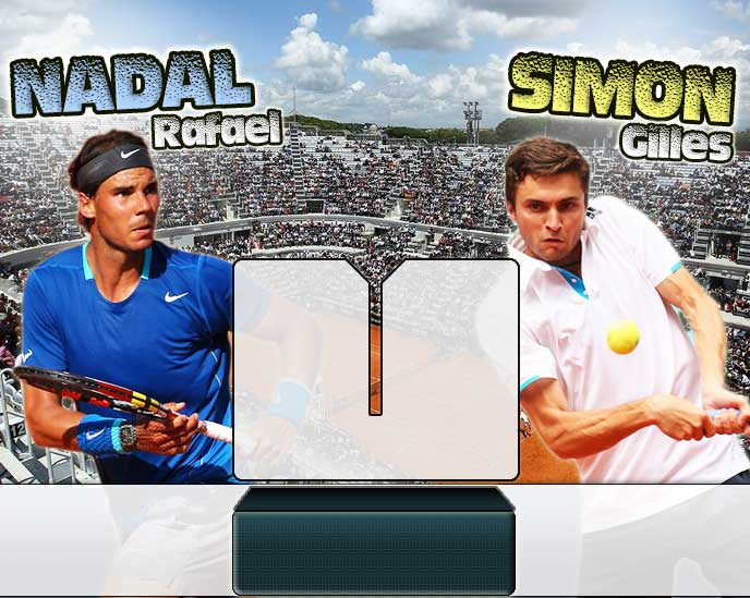 Nadal vs Simon en Roma 2014